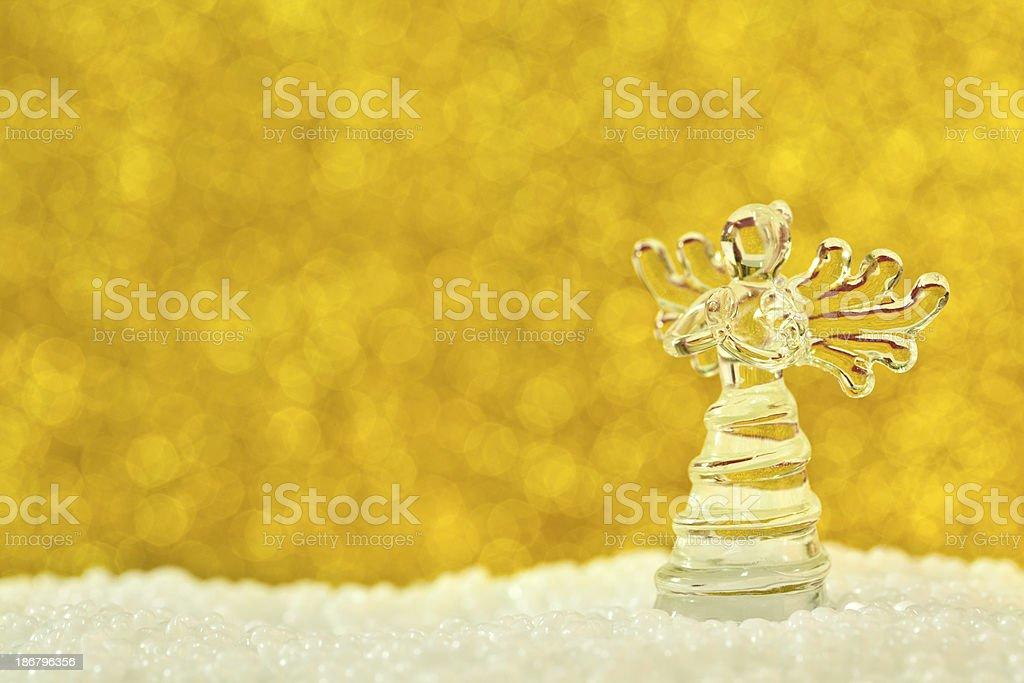 Glass angel royalty-free stock photo