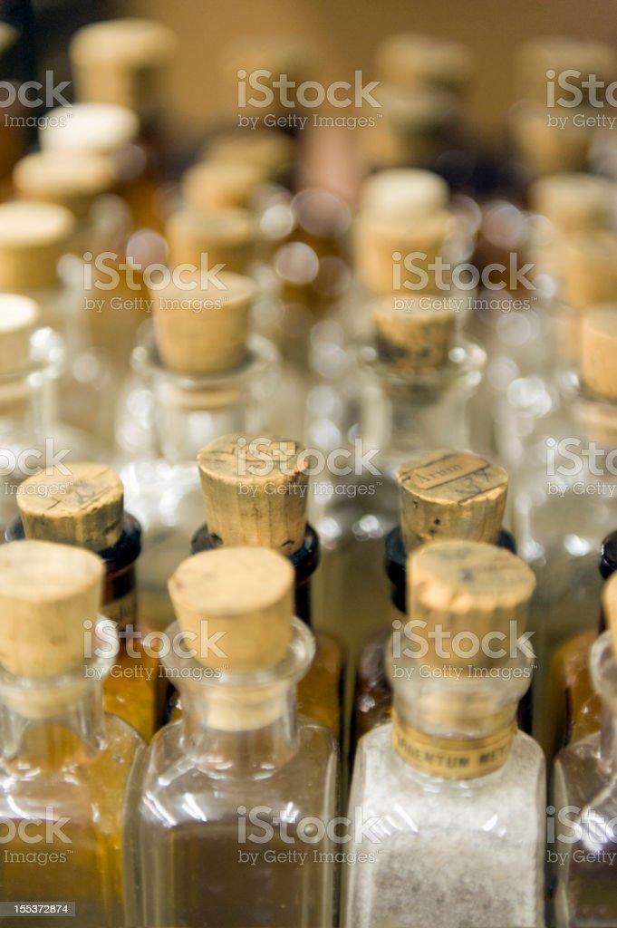 Glass Apothecary Bottles stock photo