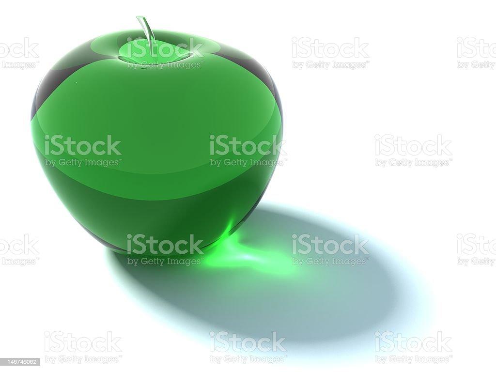 Glass apple royalty-free stock photo
