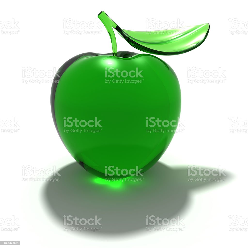 Glass apple royalty-free stock photo