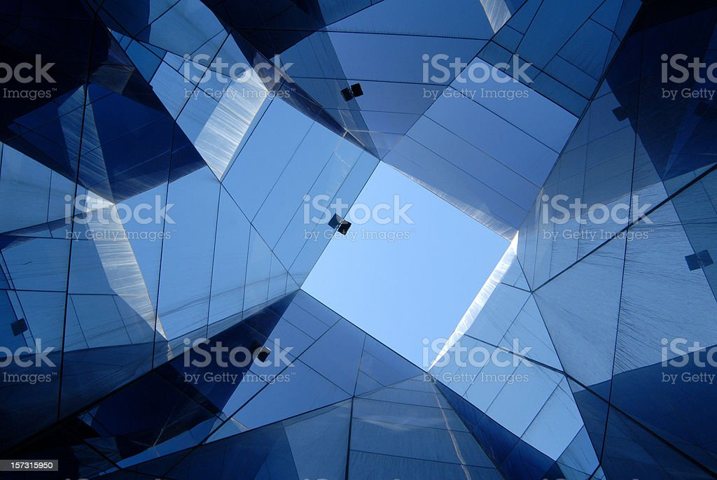 glass architecture, Barcelona royalty-free stock photo