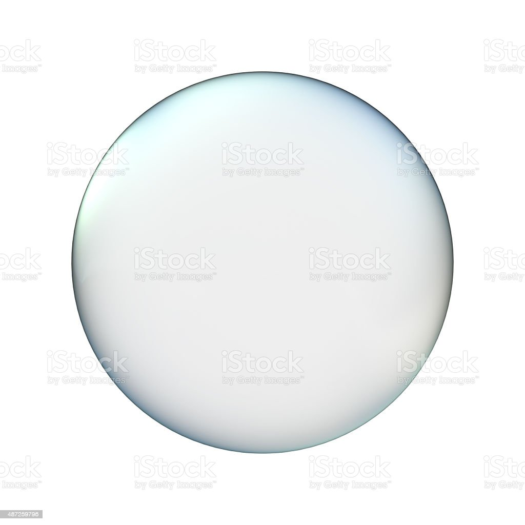 glass ball isolated on white stock photo
