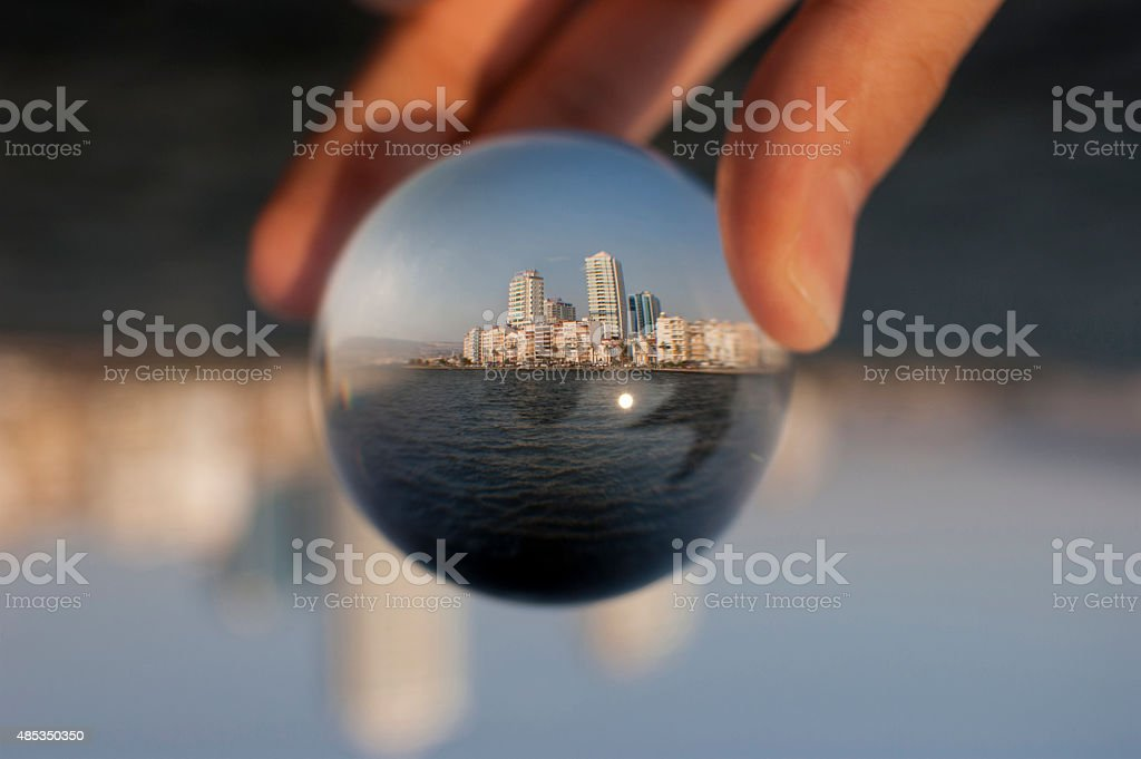 Glass ball stock photo