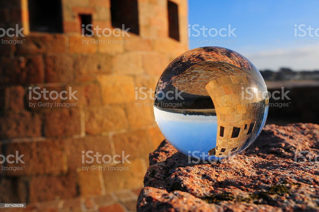 Glass ball, U.K. stock photo