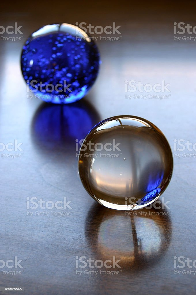 Glass Balls Still Life royalty-free stock photo