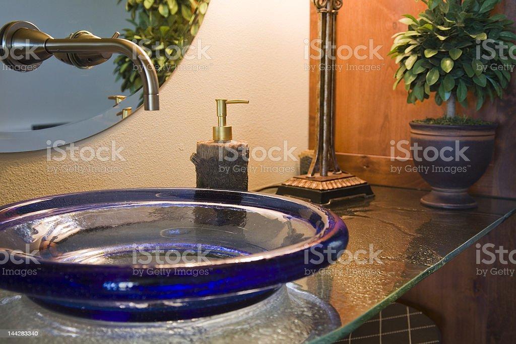 Glass Bathroom Vanity Close-up royalty-free stock photo