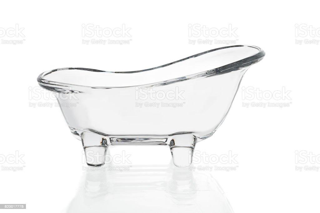 Glass Bathtub Isolated stock photo