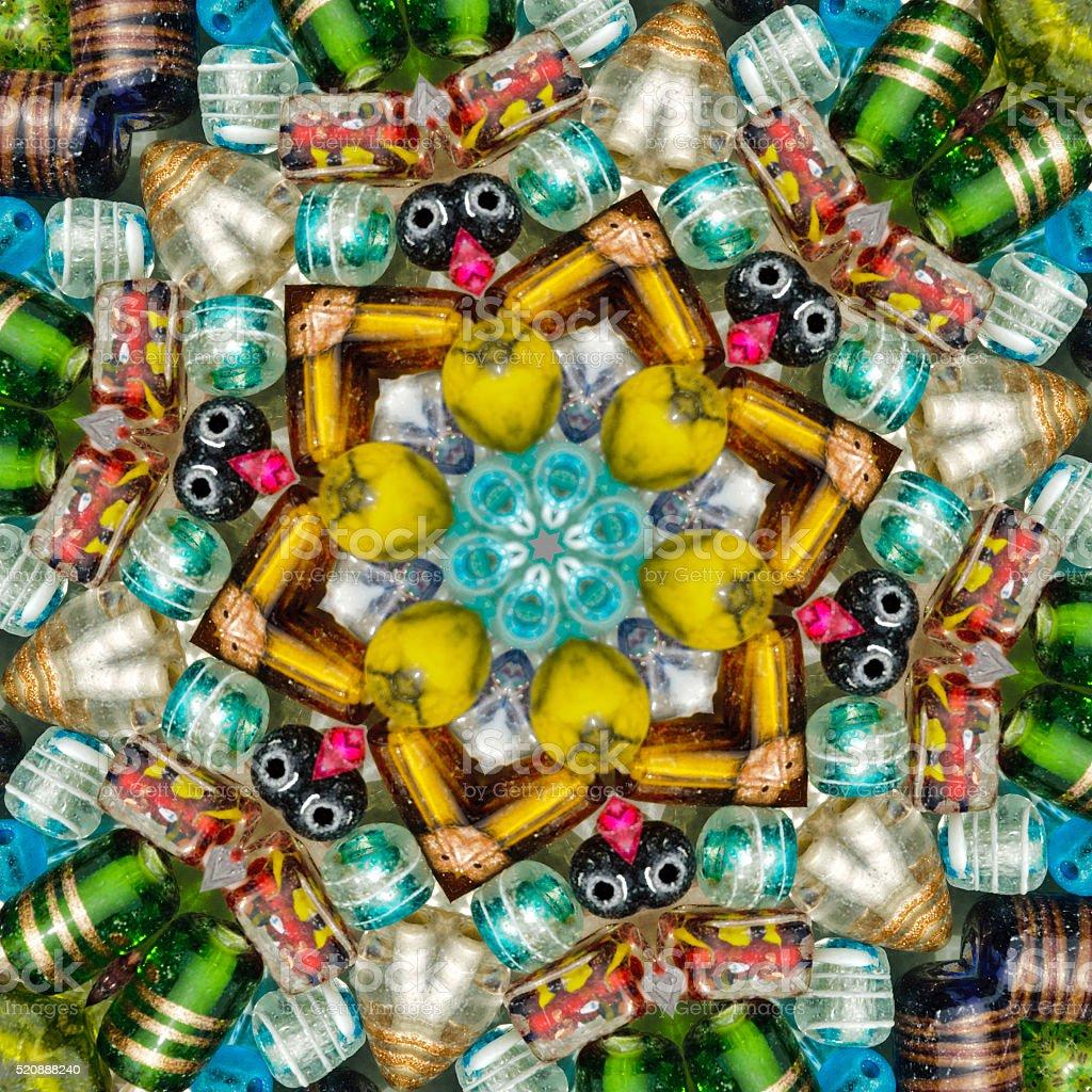 Glass Bead Mosaic stock photo