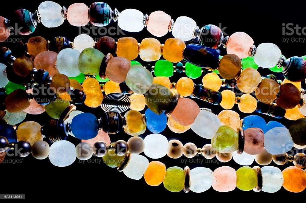 glass beads stock photo
