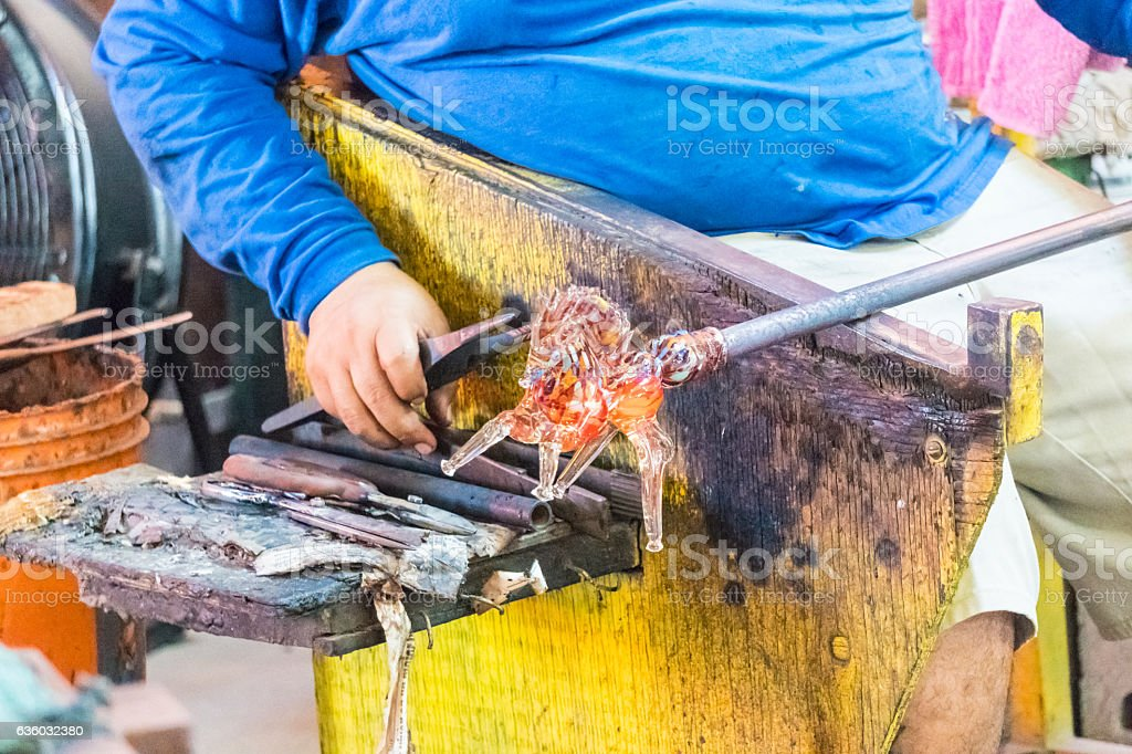 Glass Blowing Factory-Horse stock photo