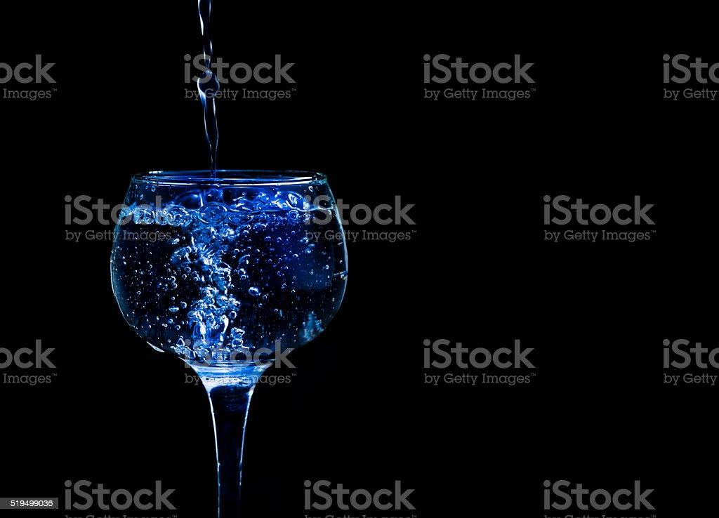 Glass Blue stock photo
