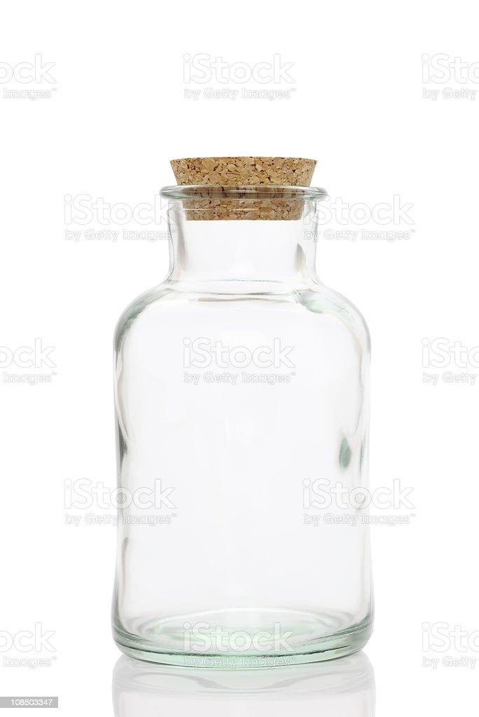 Glass bottle stock photo