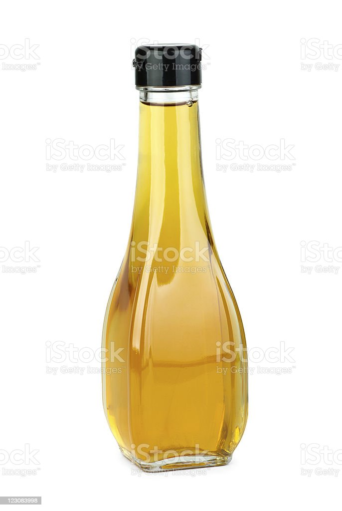 Glass bottle with apple vinegar royalty-free stock photo