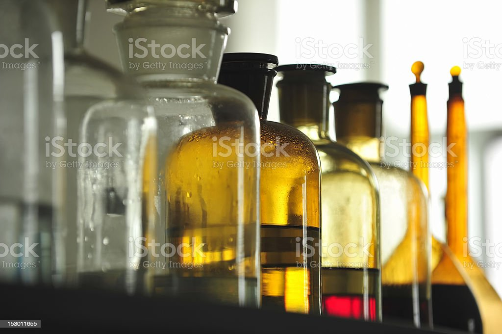 Glass bottle-Medical Series royalty-free stock photo