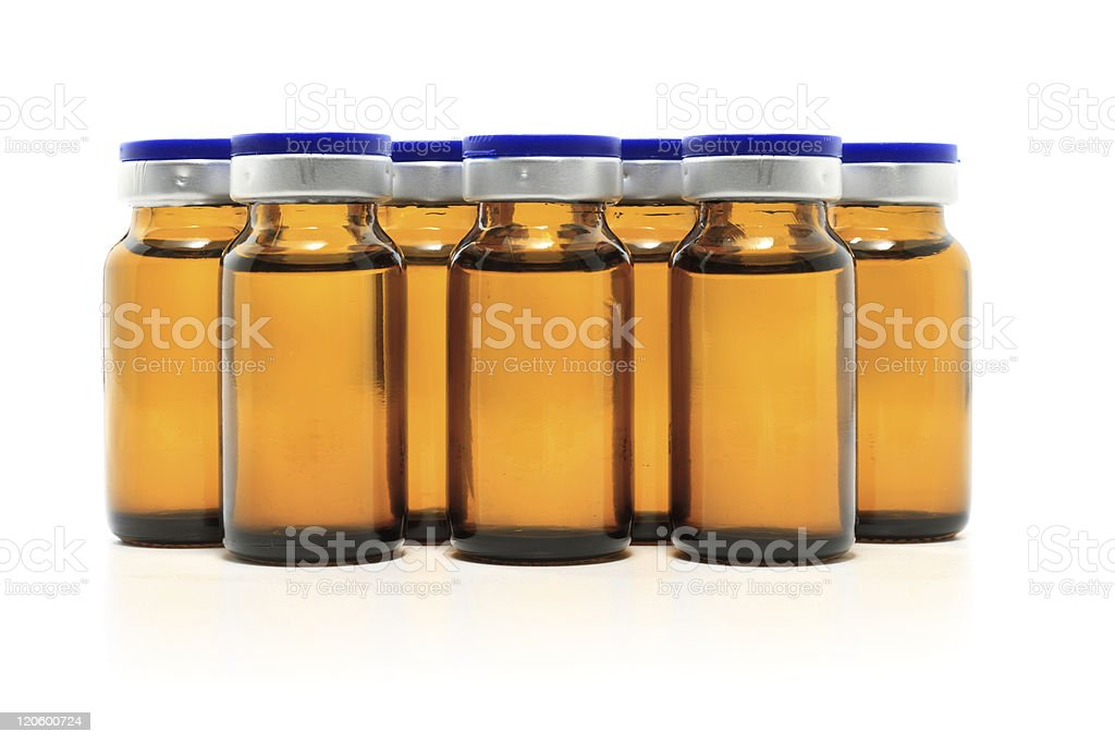 glass bottles and medicine royalty-free stock photo