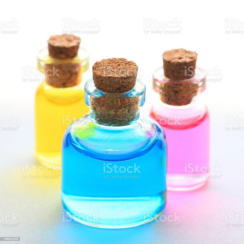 glass bottles royalty-free stock photo