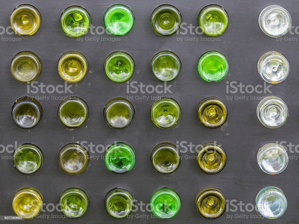 Glass bottles stock photo