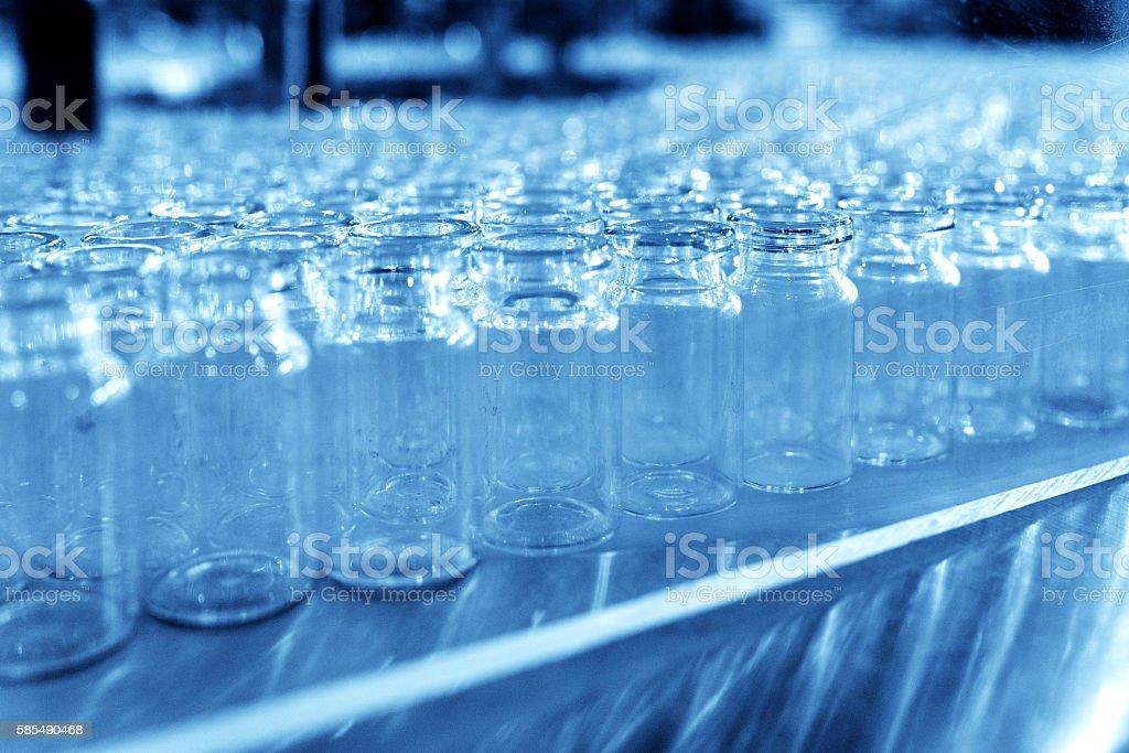Glass Bottling stock photo