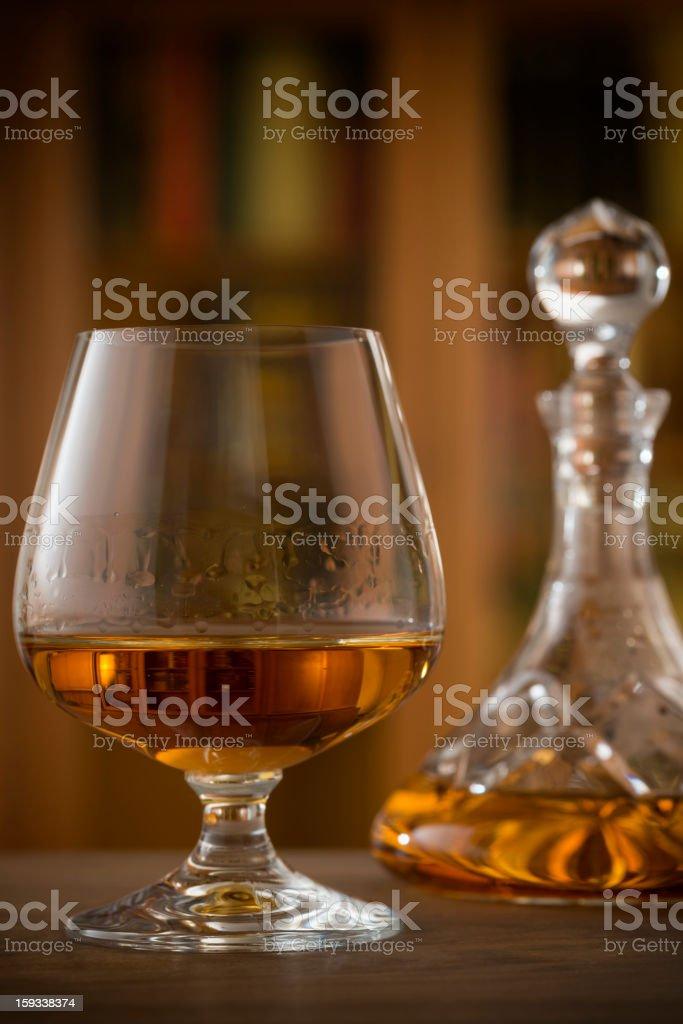 Glass, Brandy, Cognac, Snifter, Decanter royalty-free stock photo