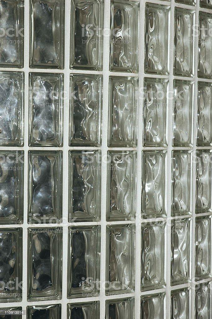 Glass Brick Wall royalty-free stock photo