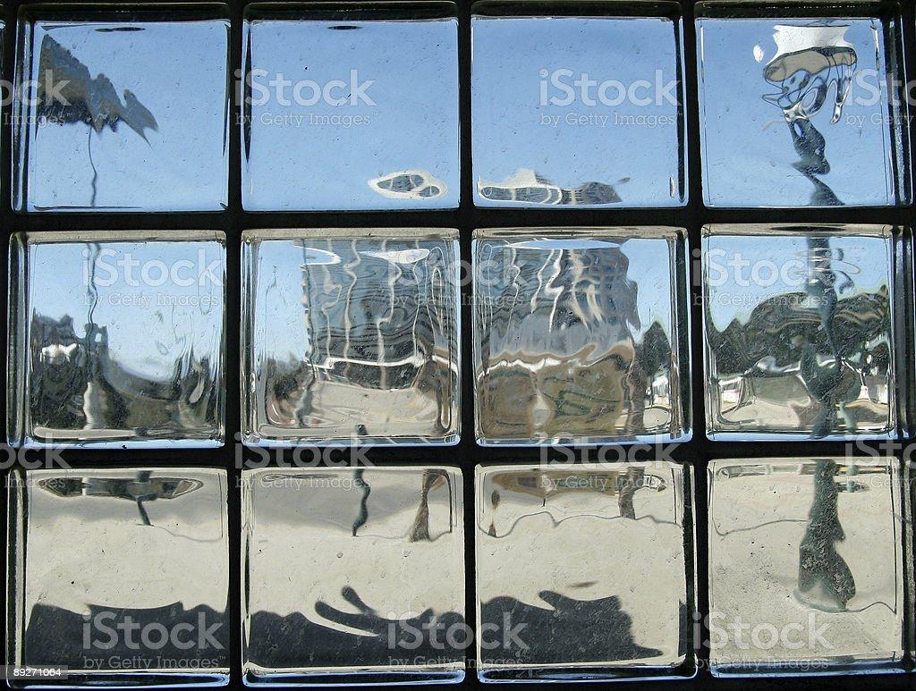 Glass bricks stock photo