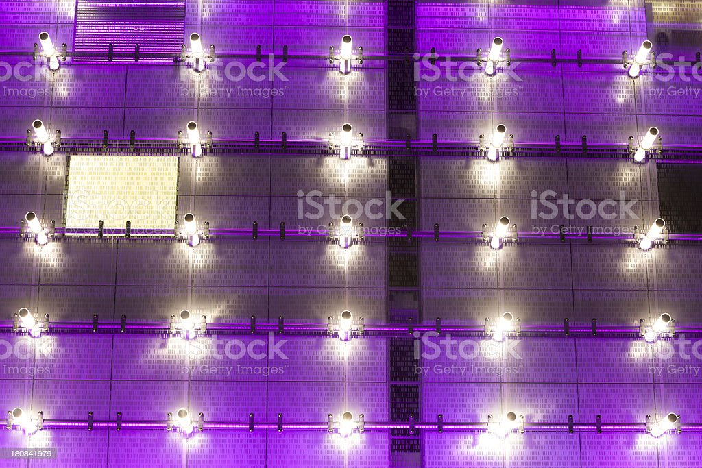 Glass Building Illuminated at Night royalty-free stock photo