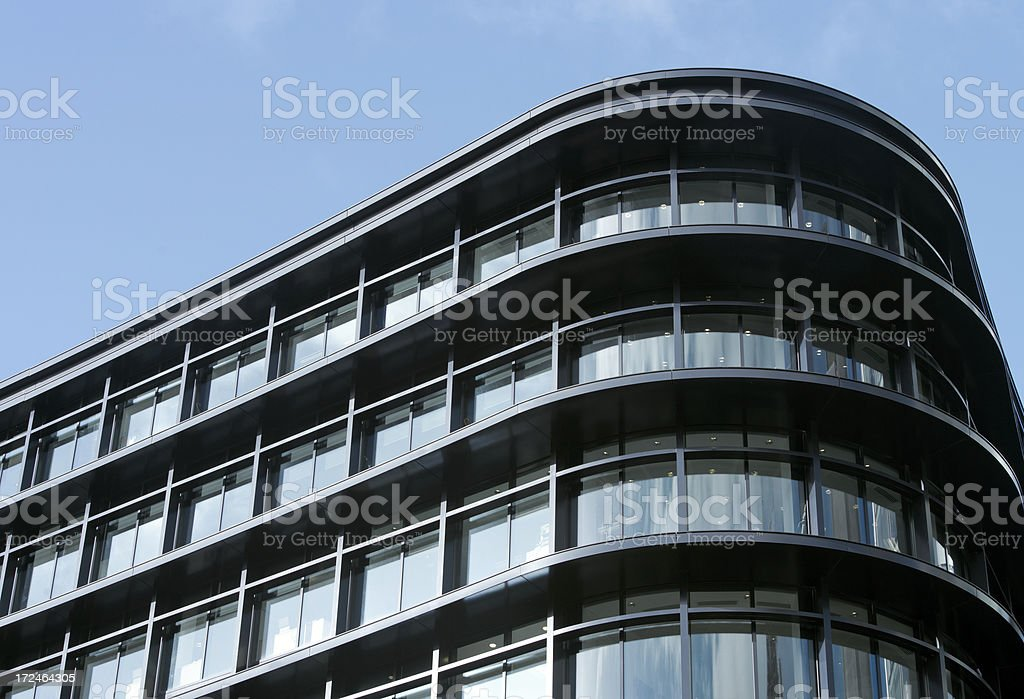 Glass building in London stock photo
