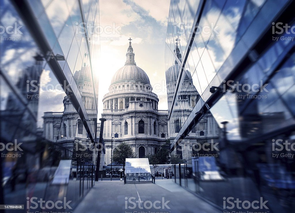 Glass building perspective view royalty-free stock photo