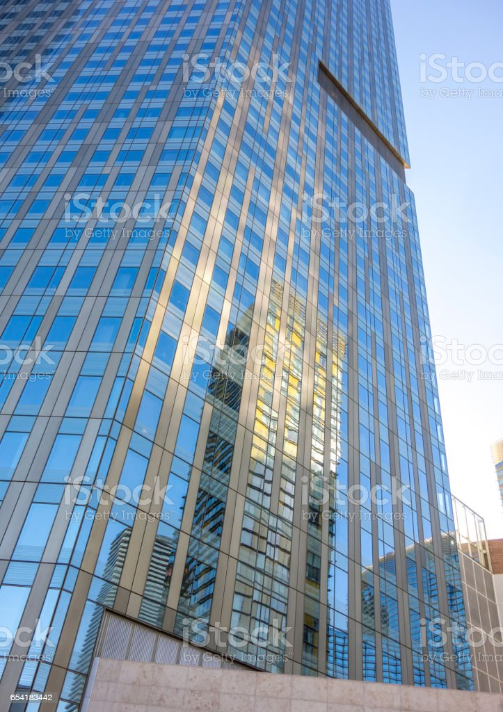 Glass building reflection stock photo