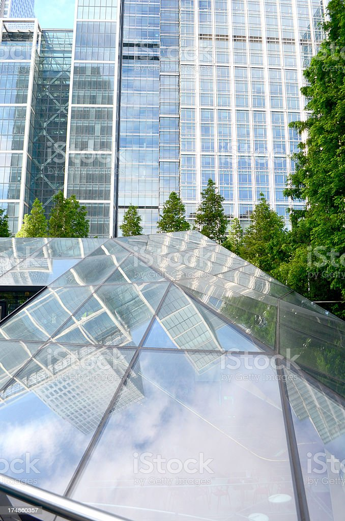 glass built structure financial district royalty-free stock photo