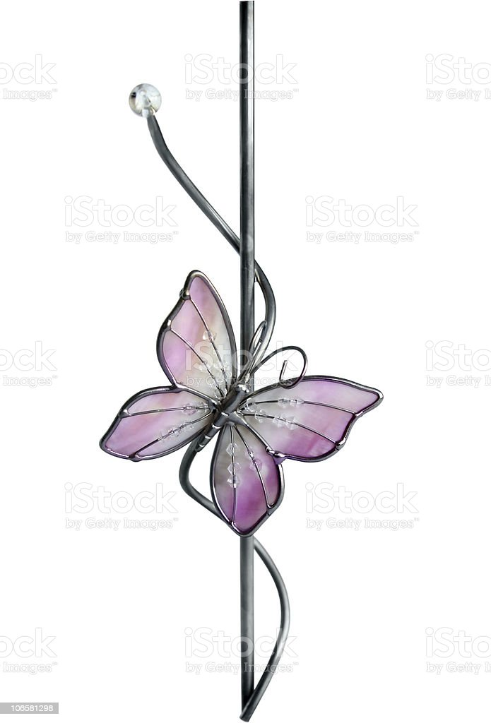 Glass butterfly stock photo