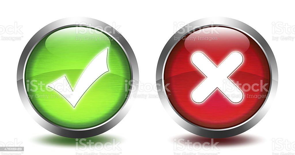 glass button - select and exit stock photo