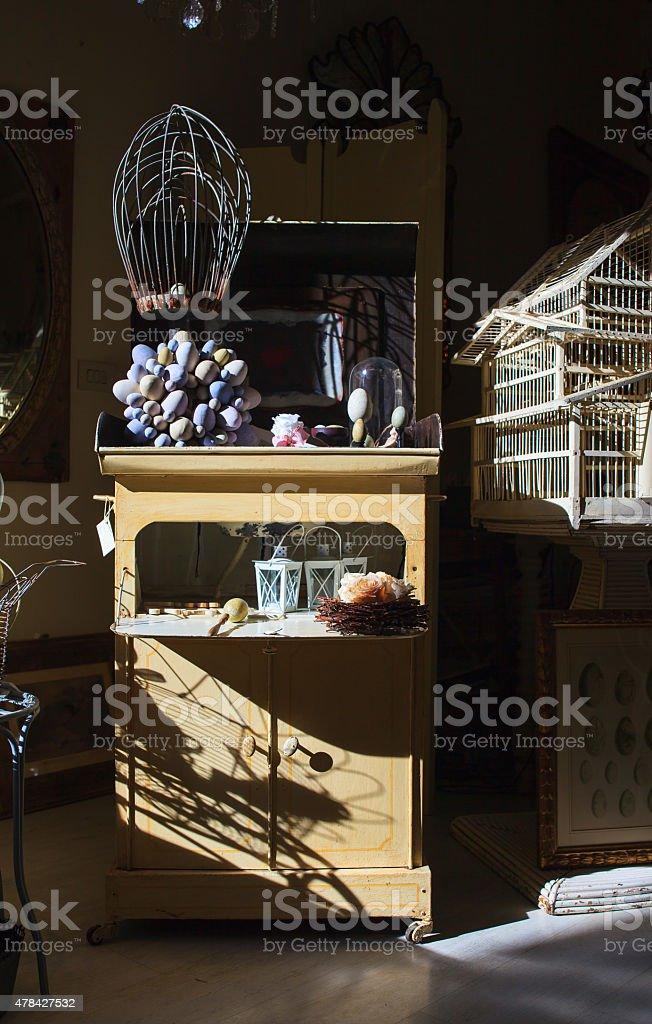 Glass cabinet stock photo