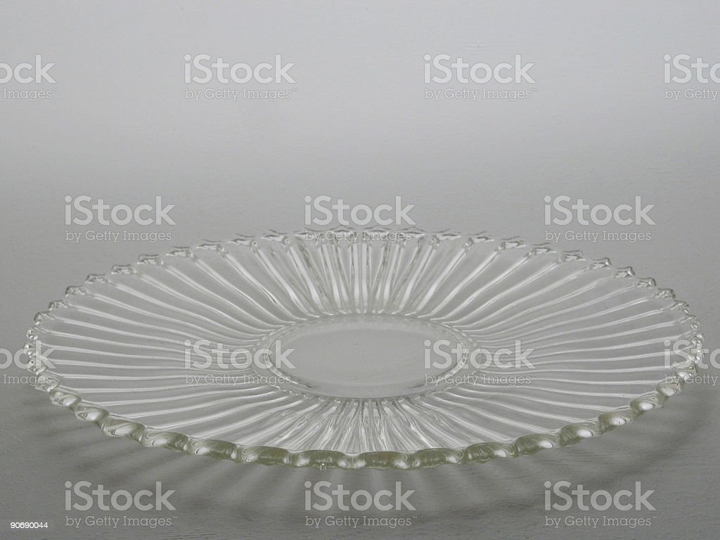 Glass cake dish royalty-free stock photo