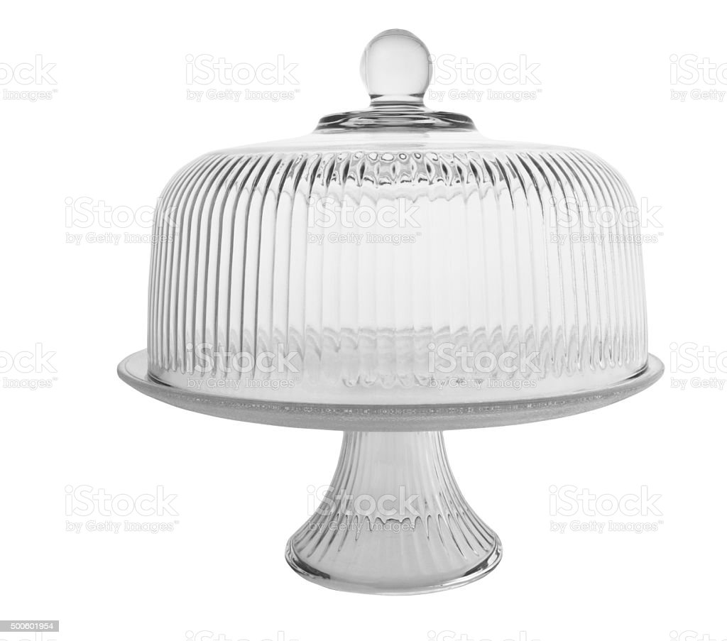 Glass Cake Stand stock photo