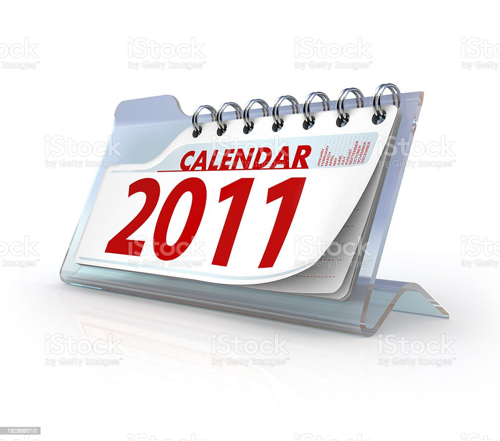 glass calendar 2011 royalty-free stock photo