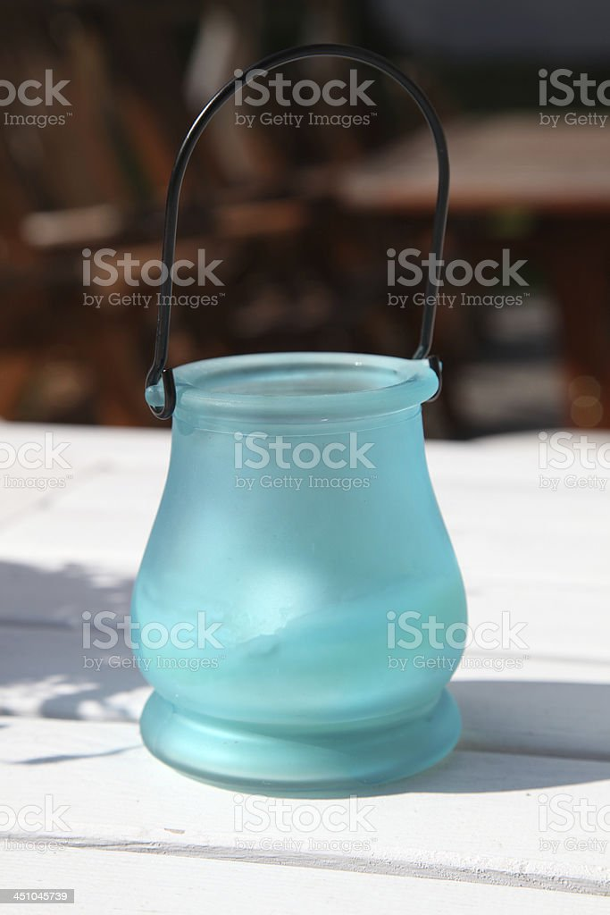 Glass candle holder royalty-free stock photo