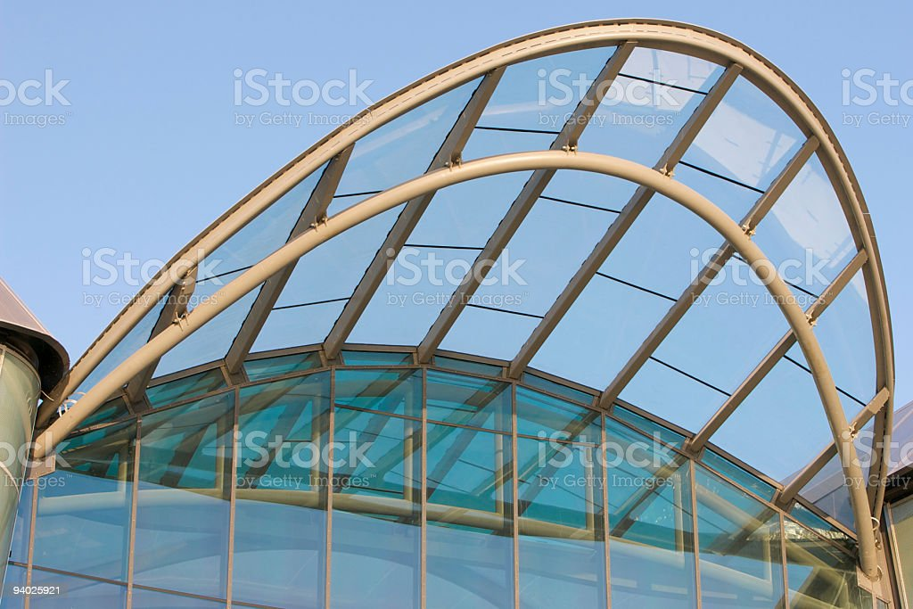 Glass canopy royalty-free stock photo