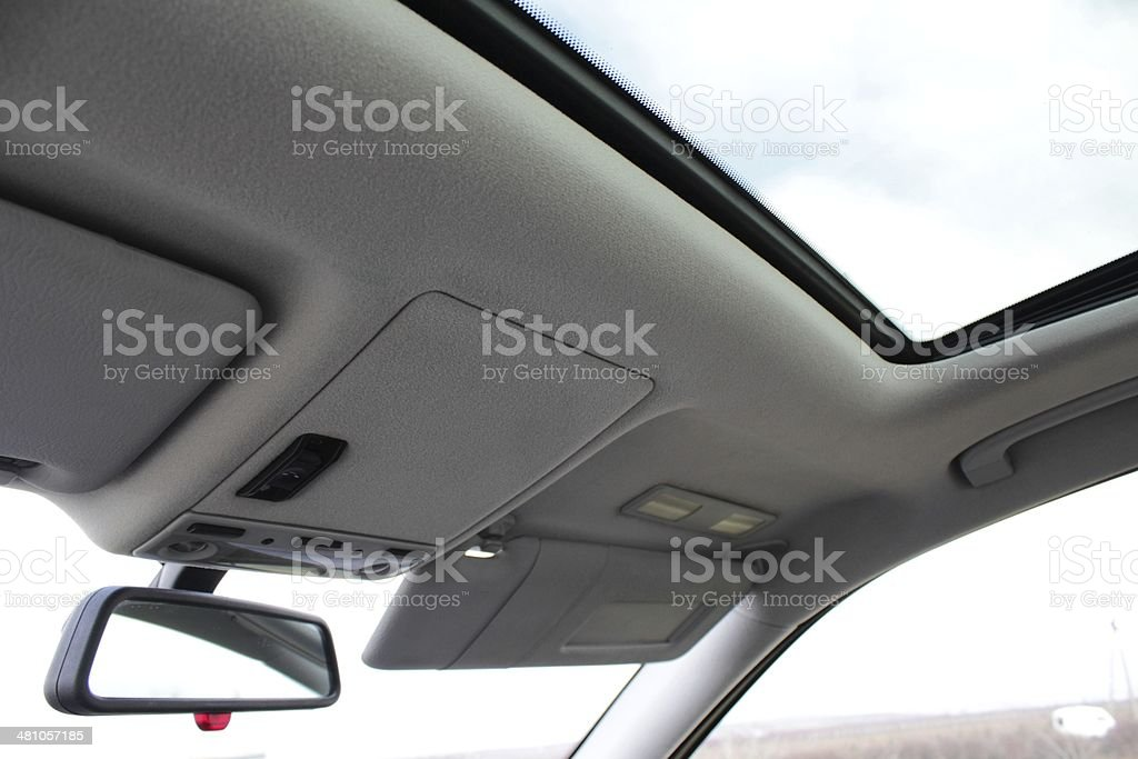 Glass car roof stock photo