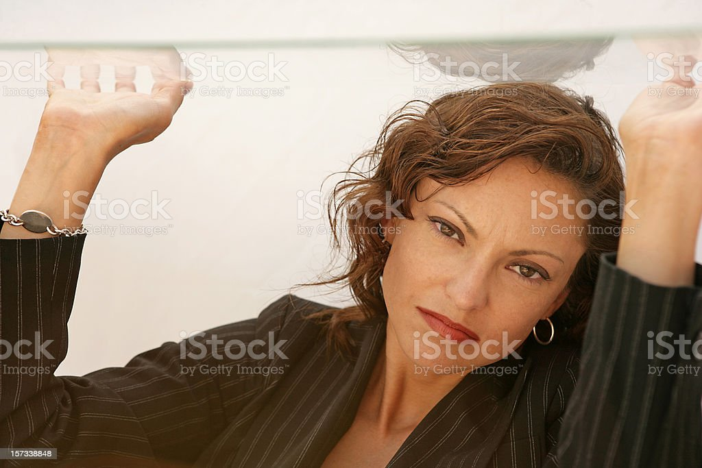 Glass Ceiling Dejected royalty-free stock photo