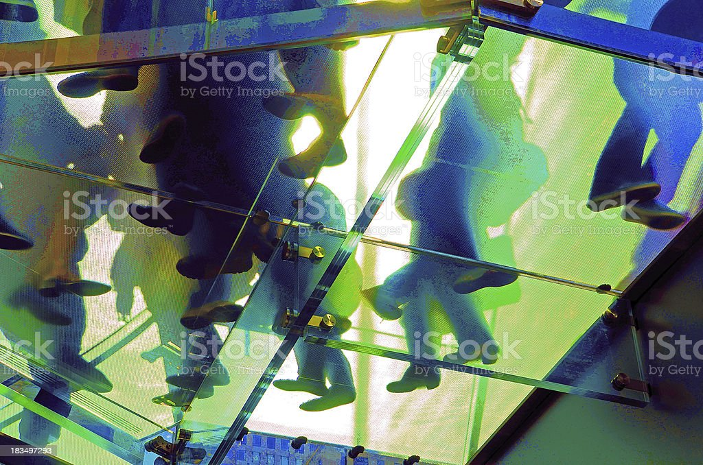 glass ceiling stock photo