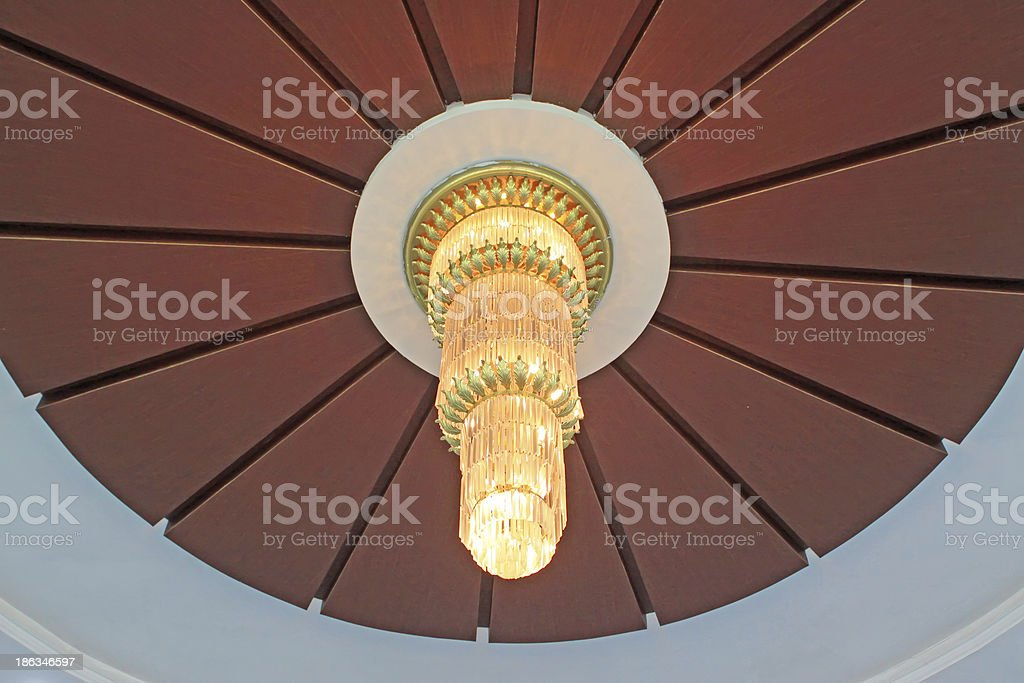 glass chandeliers stock photo