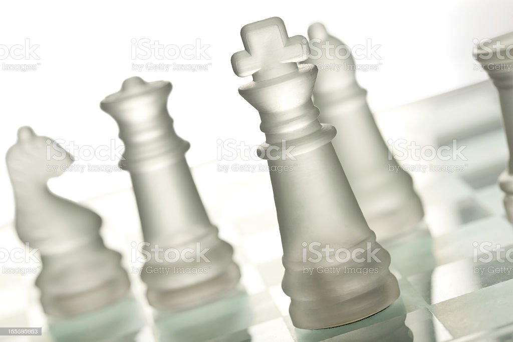 Glass chess royalty-free stock photo