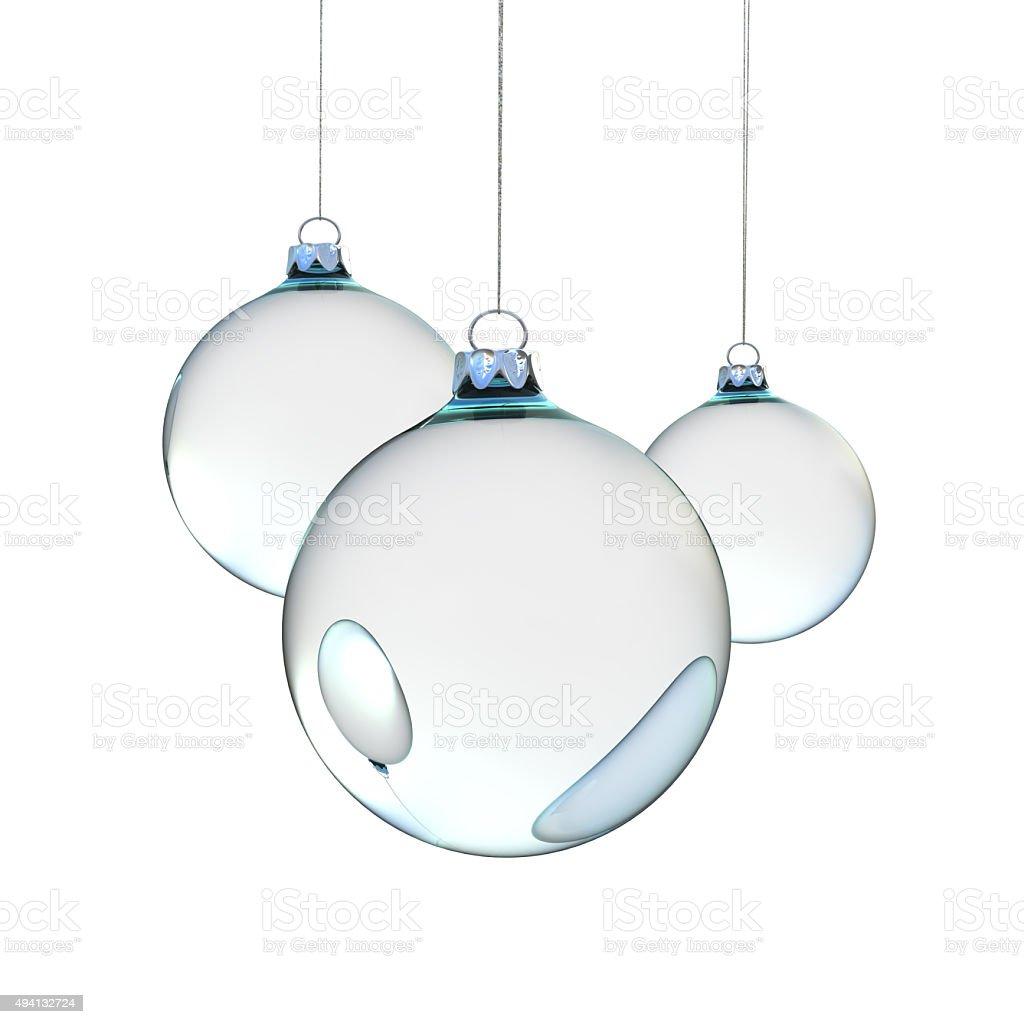 glass Christmas balls stock photo