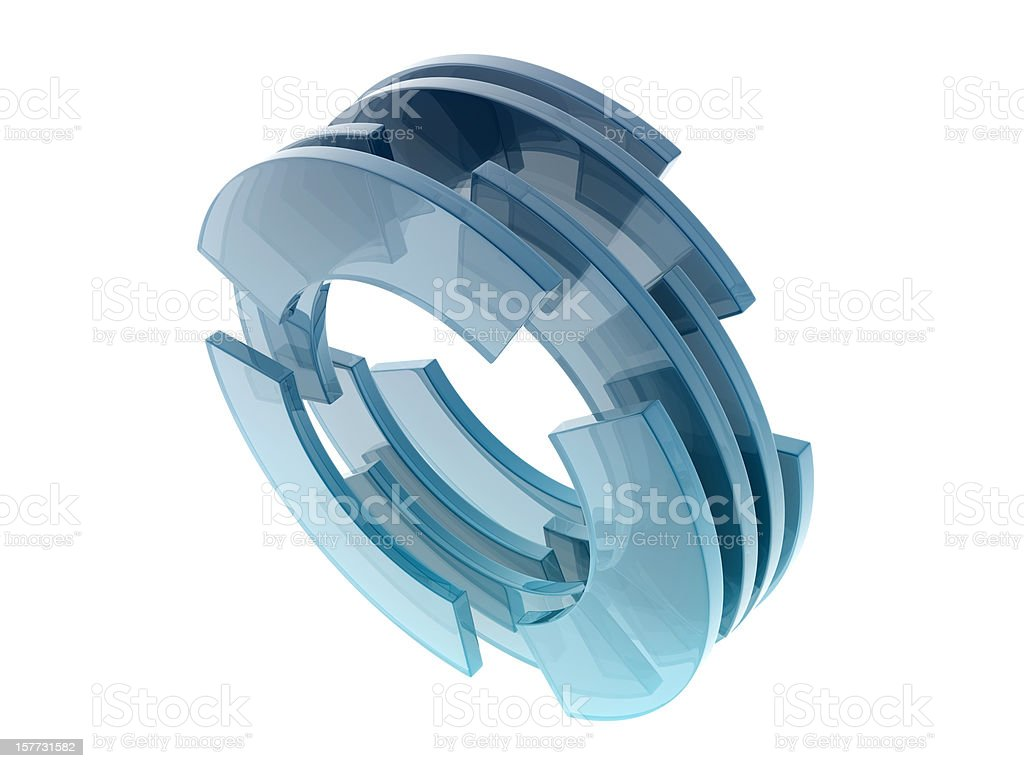 glass circles royalty-free stock photo