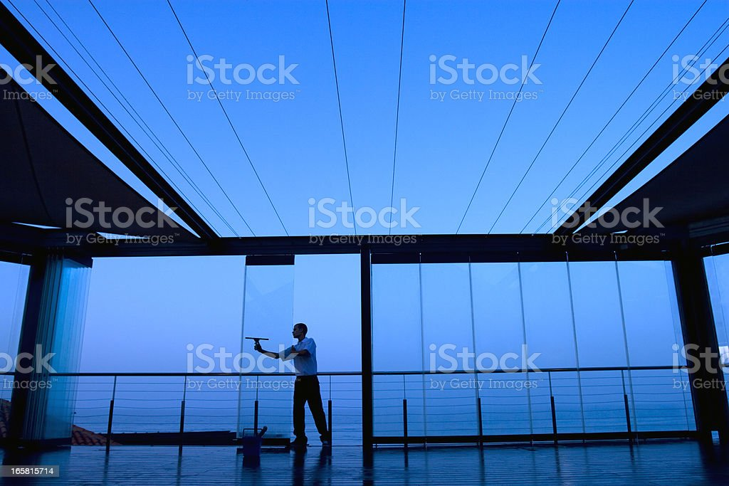 Glass cleaning royalty-free stock photo