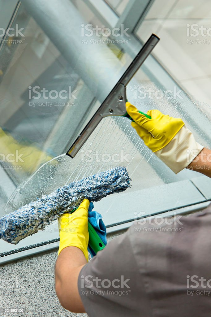 Glass Cleaning stock photo