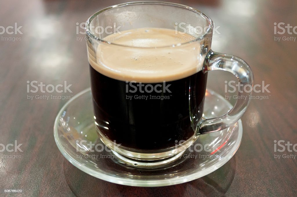 Glass Coffee Cup stock photo
