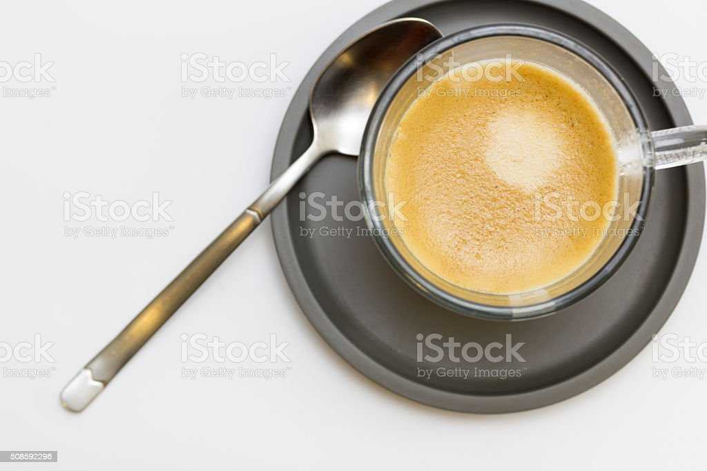 Taza de café de cristal stock photo