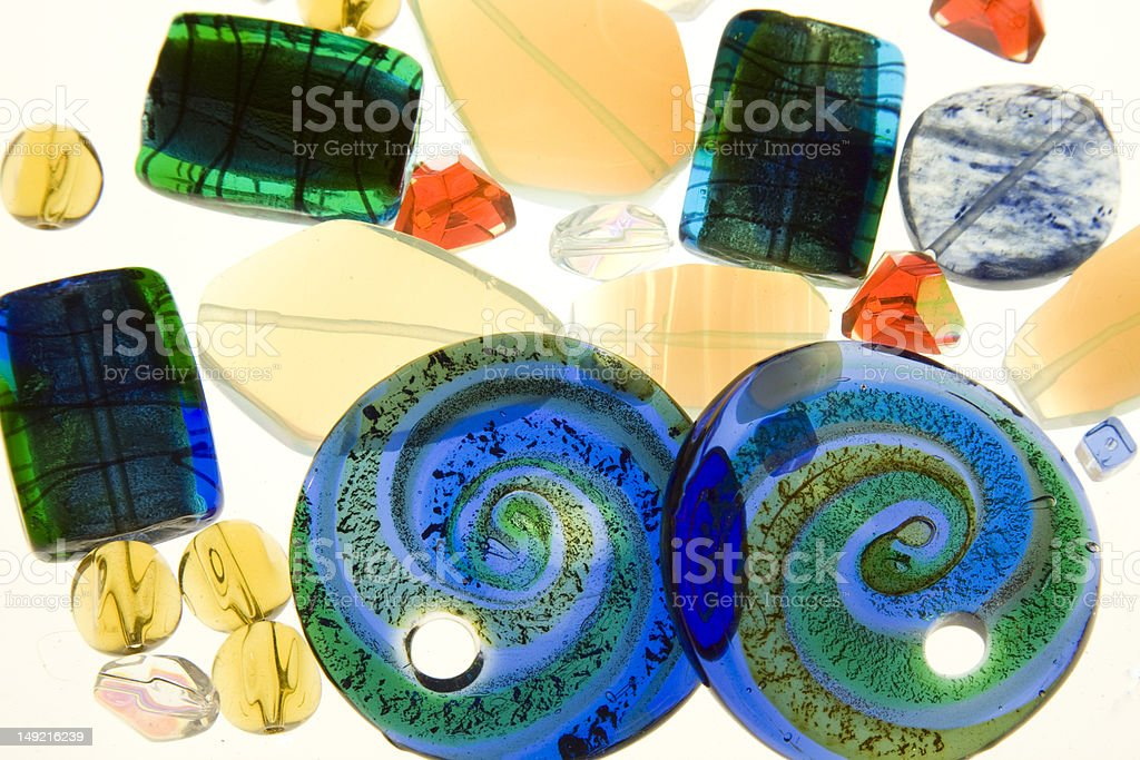 Glass Collage stock photo